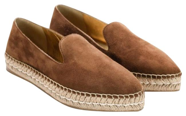 Item - Tan Pointed Toe Suede Espadrille 39.5 Flats Size US 9 Regular (M, B)