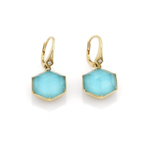 Stephen Webster Deco Blue Quartz & Diamond 18k Gold Earrings