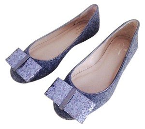 Kate Spade Wool Glitter Bow grey Flats