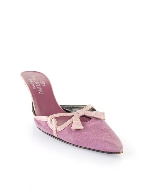 Item - Purple and Pink Suede Leather Mules/Slides Size US 8.5 Regular (M, B)
