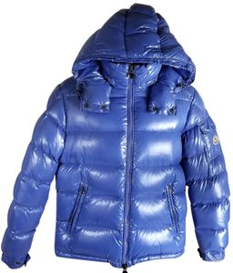 Moncler Blue Shiny Men's Jacket
