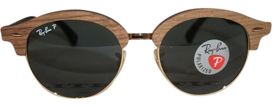 c7a746fed1 Ray-Ban Brown Gold  Brown Black New Clubround G15 Polarized Rb4246m  Sunglasses