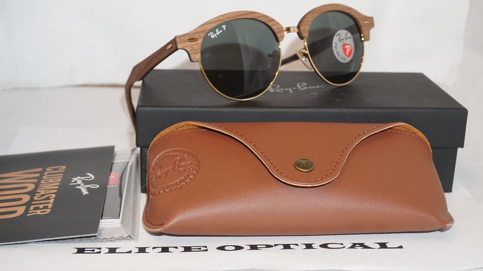 7dd0a62104 Ray-Ban Brown Gold  Brown Black New Clubround G15 Polarized Rb4246m ...