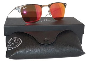 Ray-Ban New RAY BAN Clubmaster Light Ray Havana Brown Red Mirror RB8056