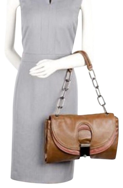 Item - Day Dream Two Toned Brown Lambskin Leather Shoulder Bag