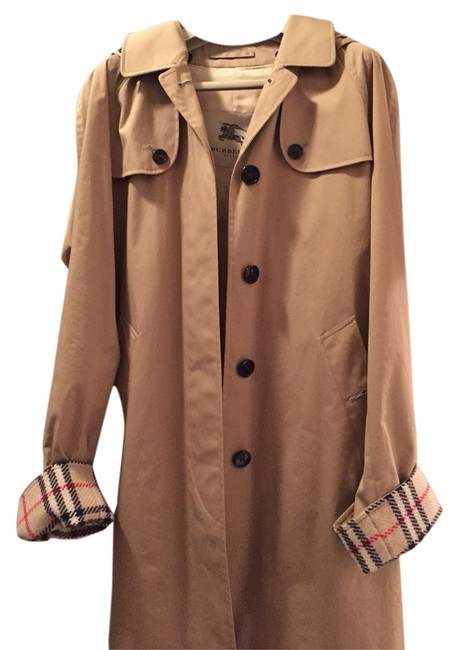 Preload https://item2.tradesy.com/images/burberry-khaki-single-breasted-trench-coat-size-2-xs-2205486-0-0.jpg?width=400&height=650
