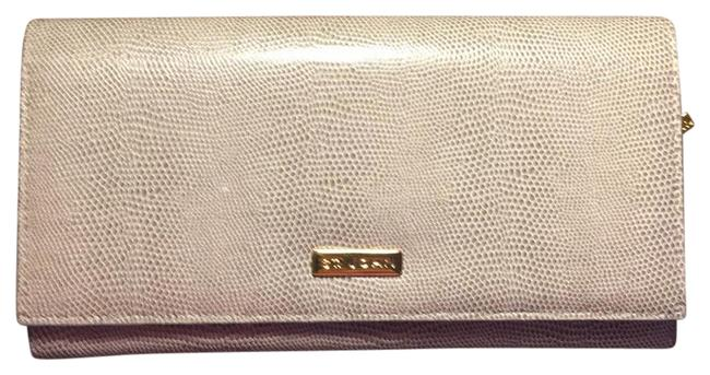 Item - Wallet Grey White Gold Snakeskin Leather Clutch