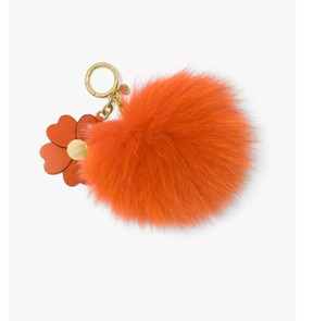 Michael Kors Michael Kors Large Pom Pom With Flowers Charm Keychain with BOX NWT