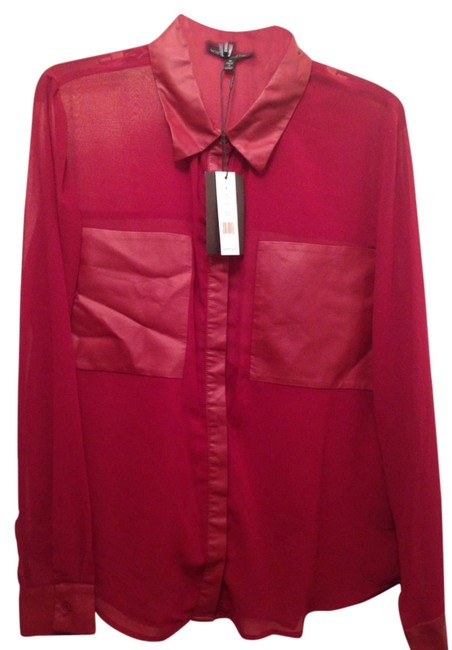 Preload https://item3.tradesy.com/images/w118-by-walter-baker-red-button-down-top-size-8-m-2205512-0-0.jpg?width=400&height=650