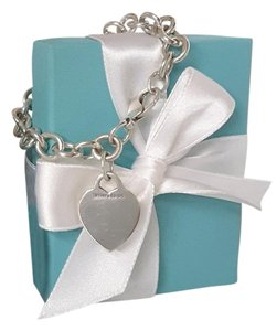 Tiffany & Co. Tiffany & Co Sterling Silver Heart Tag Toggle Bracelet