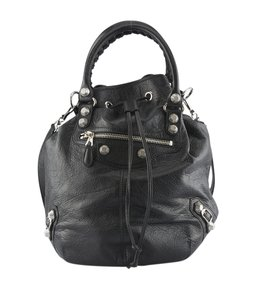 Balenciaga Leather Tote in Black