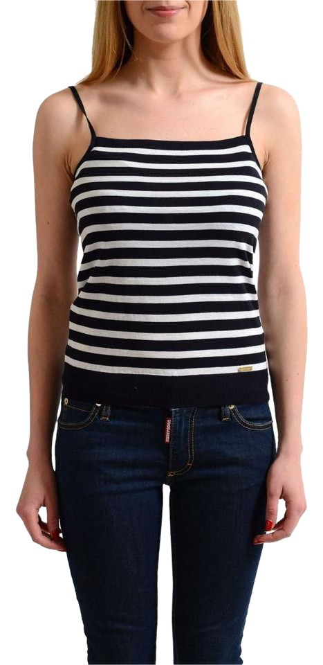 3cd479ee5b51f Dsquared2 Multi-color Striped Spaghetti Straps Women s Knitted Tank  Top Cami. Size  4 ...
