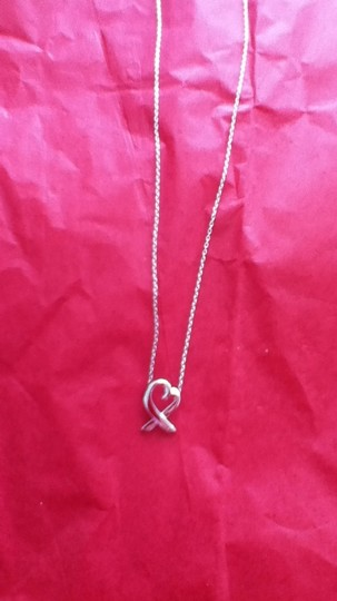 Macy's silver heart necklace