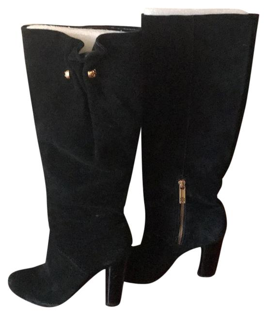 Tory Burch Black Velvet Slouch Boots/Booties Size US 7 Regular (M, B) Tory Burch Black Velvet Slouch Boots/Booties Size US 7 Regular (M, B) Image 1