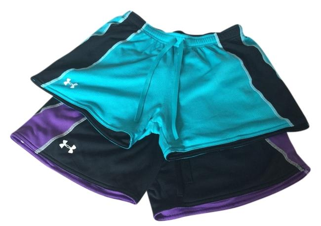 Item - Teal/Purple Two-tone/Striped Work Out/Running Activewear Bottoms Size 4 (S, 27)