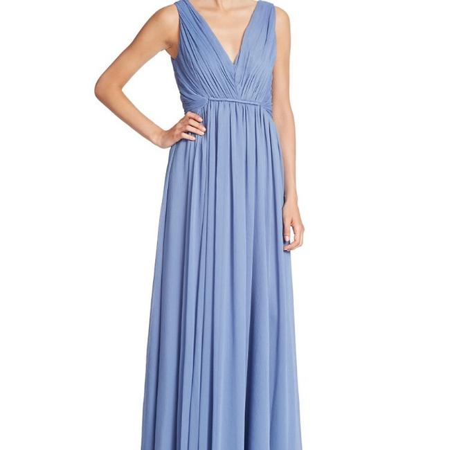 Item - Blue Chambray Gown Long Formal Dress Size 10 (M)