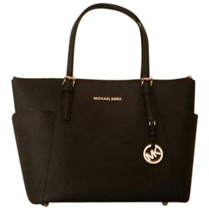 4da47efd7ed1 Michael Kors Tote in Black. Michael Kors. Zip Saffiano Leather Black Tote  Bag