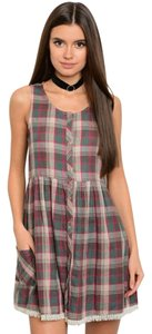 Hem & Thread short dress Multicolor Plaid Preppy Cotton on Tradesy