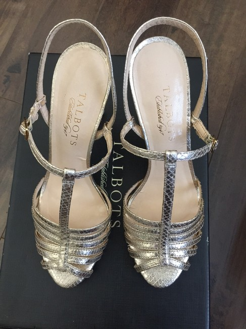 "Item - Gold ""Vayle7e-m"" Open Toe Ankle Strap Heels Sandals Size US 6 Regular (M, B)"