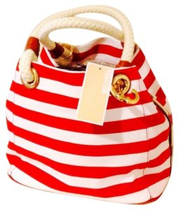 Michael Kors Tote in RED AND WHITE STRIPES
