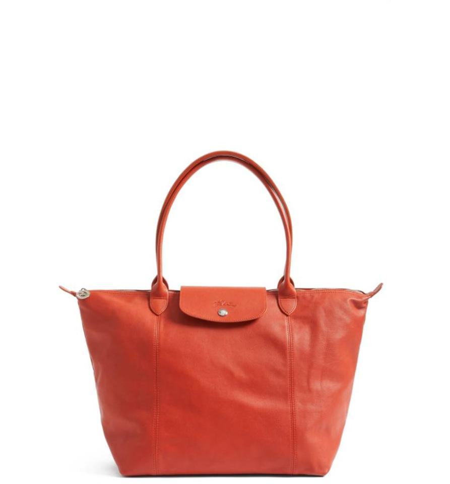 b92d555d4c6e Longchamp Le Pliage Cuir Made In France Burnt Red Leather Tote - Tradesy