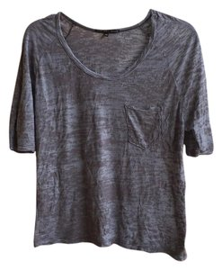 Truly Madly Deeply Burnout Cropped Urban Outfitters T Shirt Gray