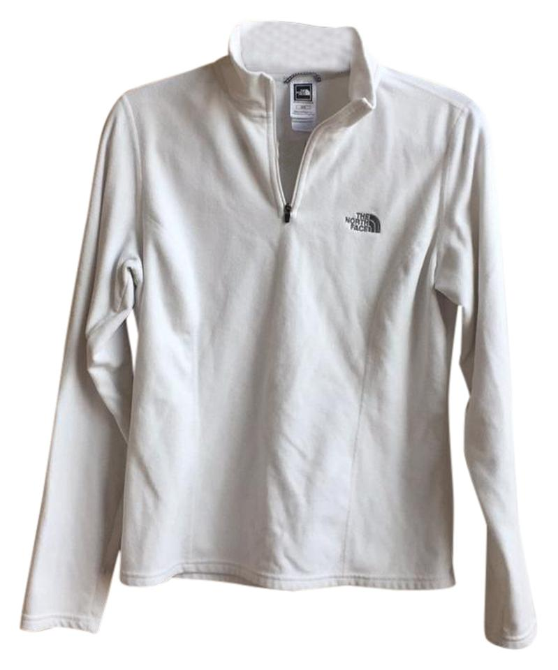 83b63f7de The North Face White 1/4 Zip Pullover Fleece Activewear Outerwear Size 8 (M)