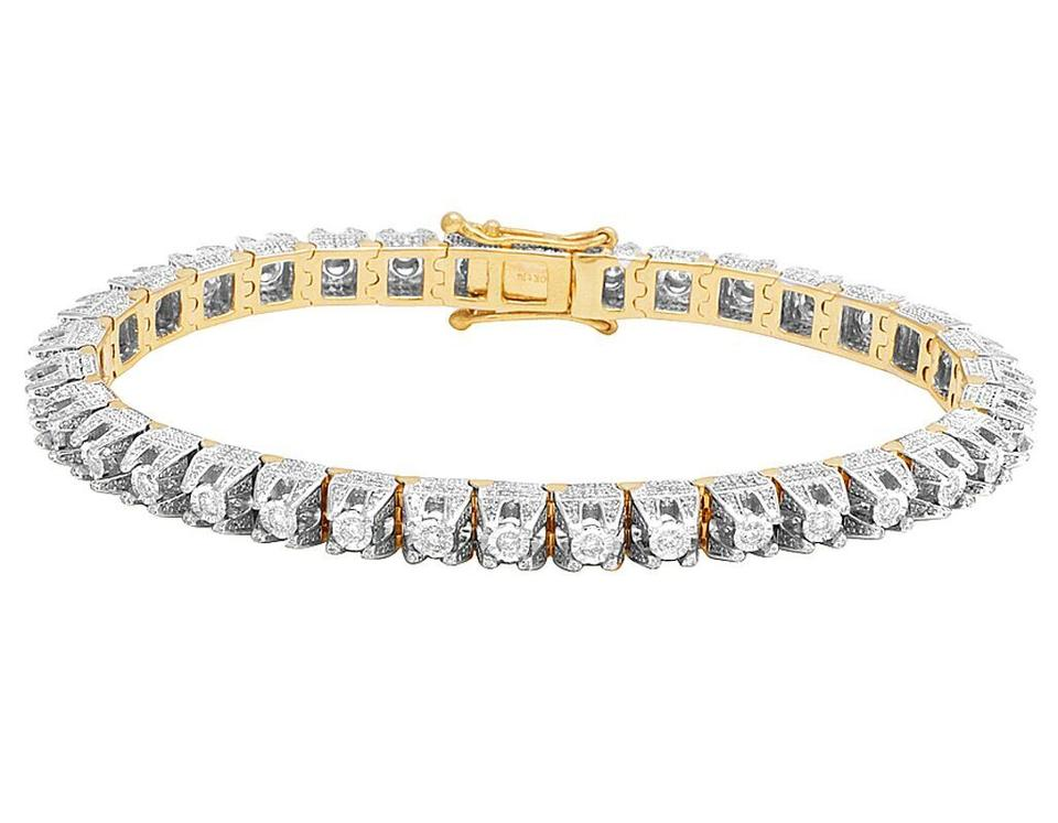 77cc2bc85ae5c Jewelry Unlimited 10k Yellow Gold Men's Diamond 6mm 3d Solitaire Tennis Ct  8