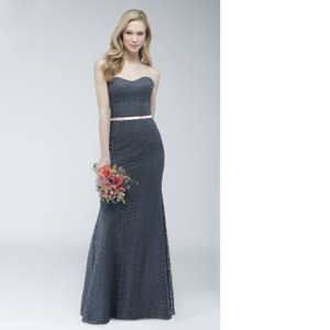 d3a7b866cbe Wtoo Pewter (Grey) Amour Lace By Watters 794 Traditional Bridesmaid Mob  Dress Size