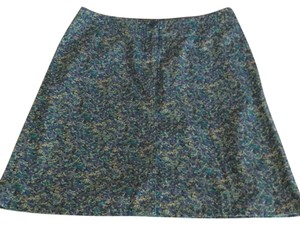 Eddie Bauer Stretch Skirt Blue floral