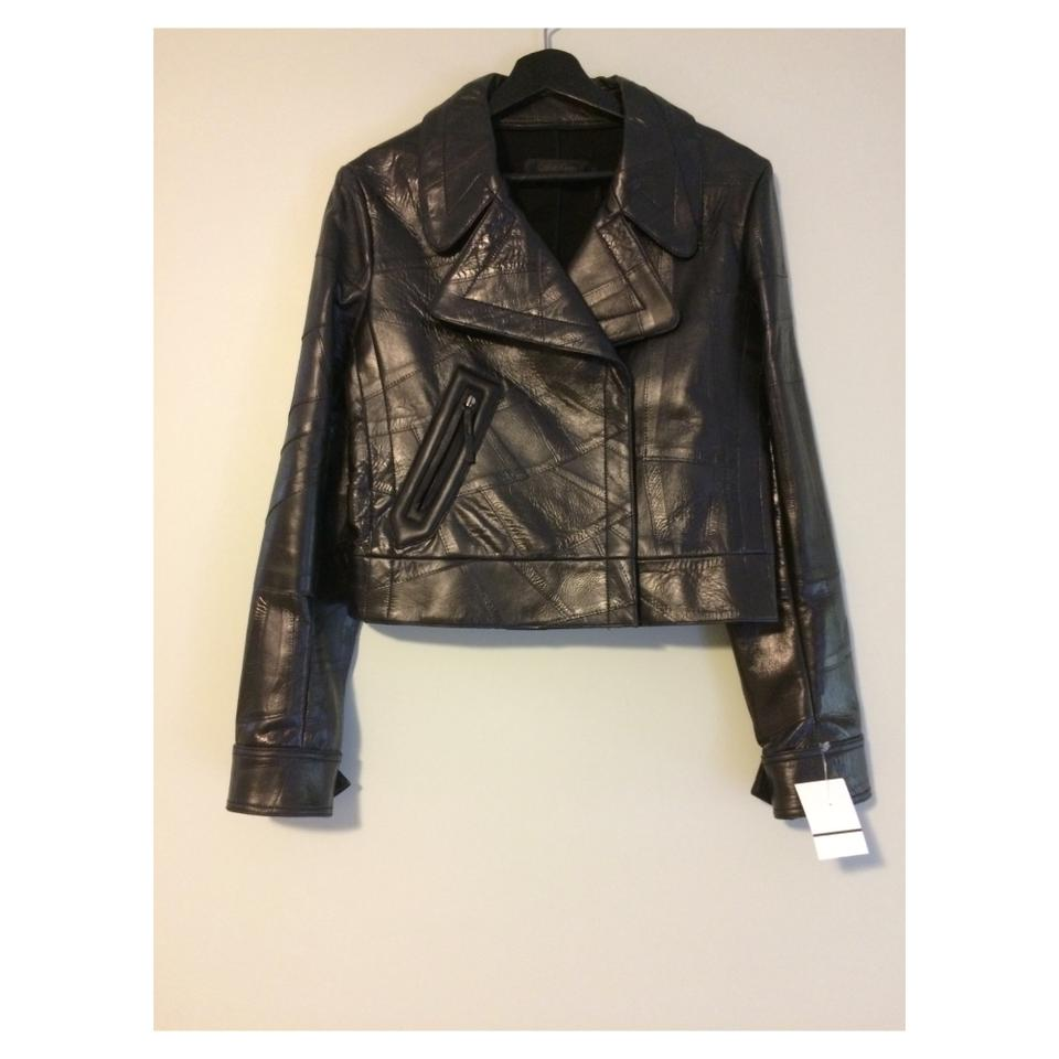 59af7f9c729 Calvin Klein Collection Black New Textured Jacket Size 8 (M) - Tradesy