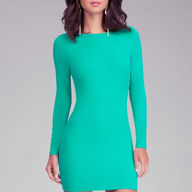 Item - Green Bodycon Short Night Out Dress Size 4 (S)