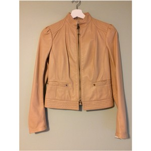 Patrizia Pepe Camel Leather Jacket