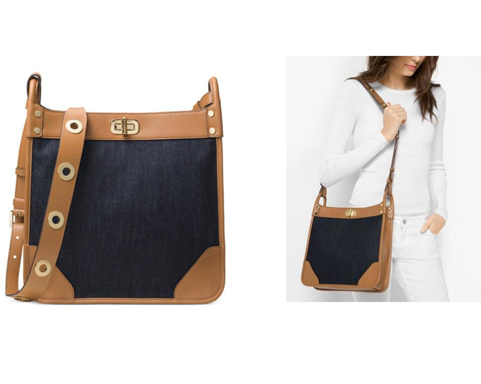 87f87a042f70 Michael Kors Sullivan Large Messenger Cross Body Bag Image 9. 12345678910