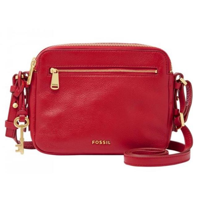 Item - Crimson Red Leather Messenger Bag