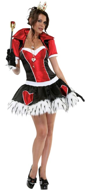 """Item - Red/Black Halloween Costumes-""""Queen Of Hearts"""" Deluxe ( Limited Edition ) S/M"""