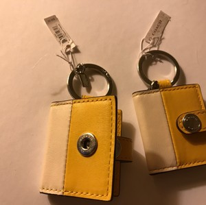 Coach Mini Leather Picture Frame Keychain