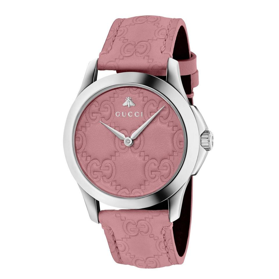 71a0231968b Gucci Pink Silver G-timeless Candy Ladies Leather Watch - Tradesy