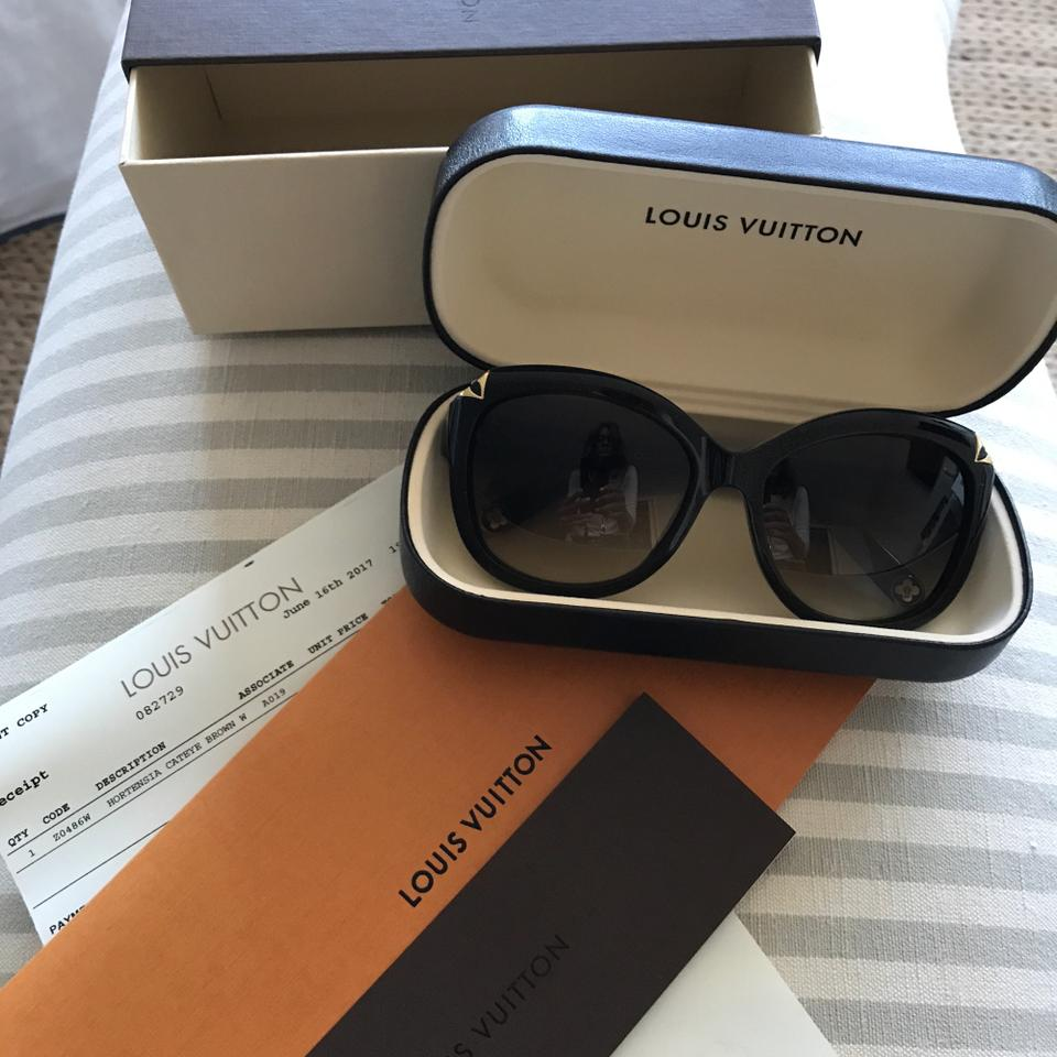 484183e6b8 Louis Vuitton Brown Glitter Hortensia Cat Eye Z0486w Sunglasses ...