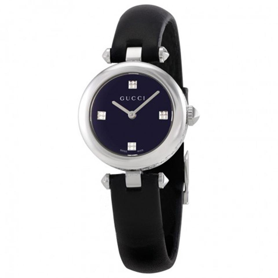 b8b88db5ba0 Gucci Black Silver Diamantissima Leather Ladies Watch - Tradesy