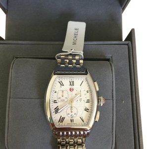 Michele NWT MICHELE STAINLESS RELEVE LADIES CHRONOGRAPH WATCH MWW19A000019