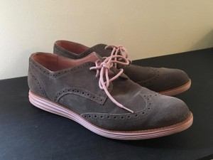 Cole Haan Oxford Wingtip Lunargrand Grey and Pink Flats