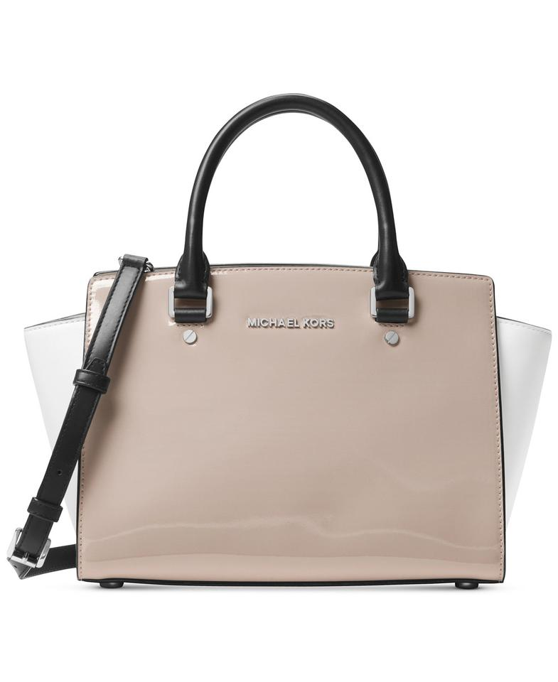 ... where to buy michael kors medium selma top patent leather satchel in  dark cement 957f5 fa714 f05769e01f8d8