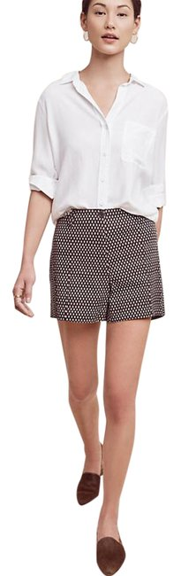 Item - Brown White Buttoned High-rise Shorts Size 2 (XS, 26)