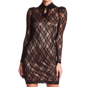 TOV Holy Bodycon Sheer Lace Dress