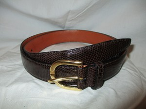 Salvatore Ferragamo reptile embossed leather