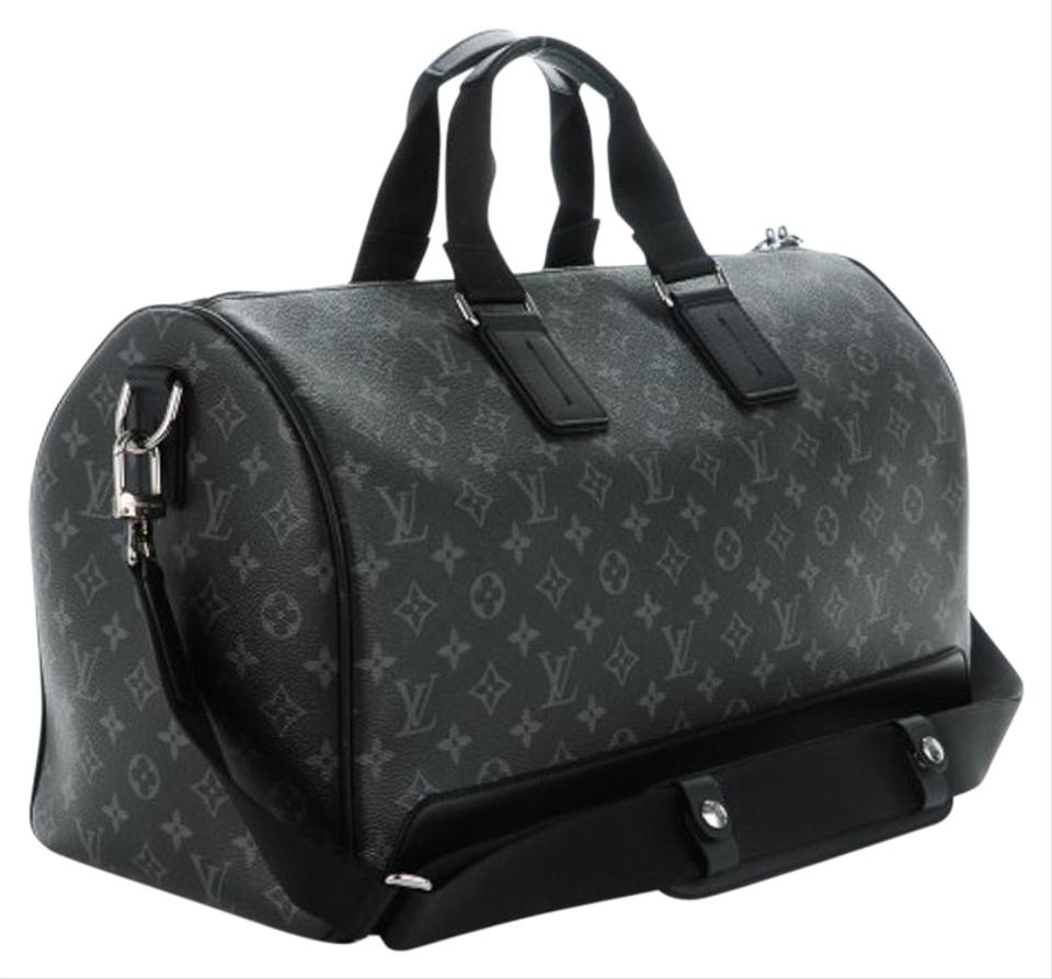 ba092fc85 Louis Vuitton Keepall Voyager L.v. Boston L.v. Monogram Eclipse Travel Bag  Image 0 ...
