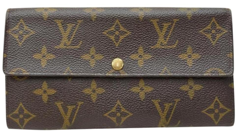 Louis Vuitton Auth Monogram Portefeuille Sarah Long Wallet M61734 Purse ... d692b2f4b74
