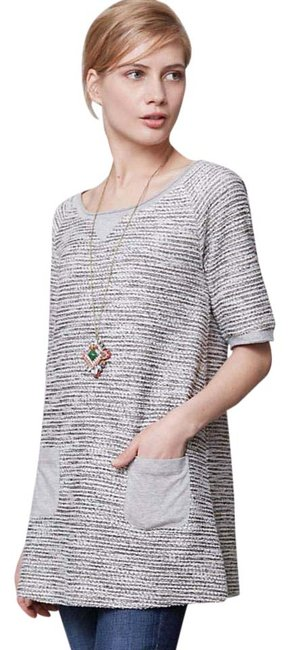 Item - Silver Shimmered Boucle Tunic Size 4 (S)