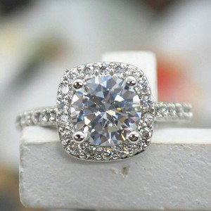 9.2.5 Silver 925 1 Ct Diamond Stamped All Sizes 5 6 7 8 9 Ring
